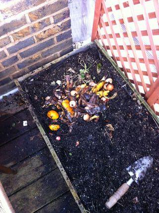 Burying food waste