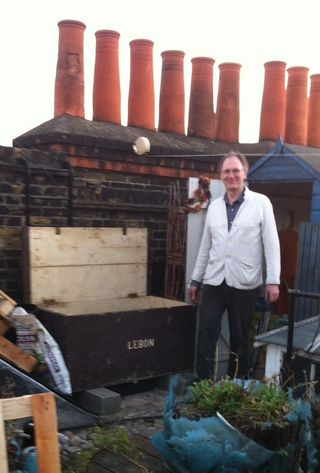 Mike and the compost bin