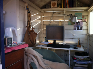Writing hut