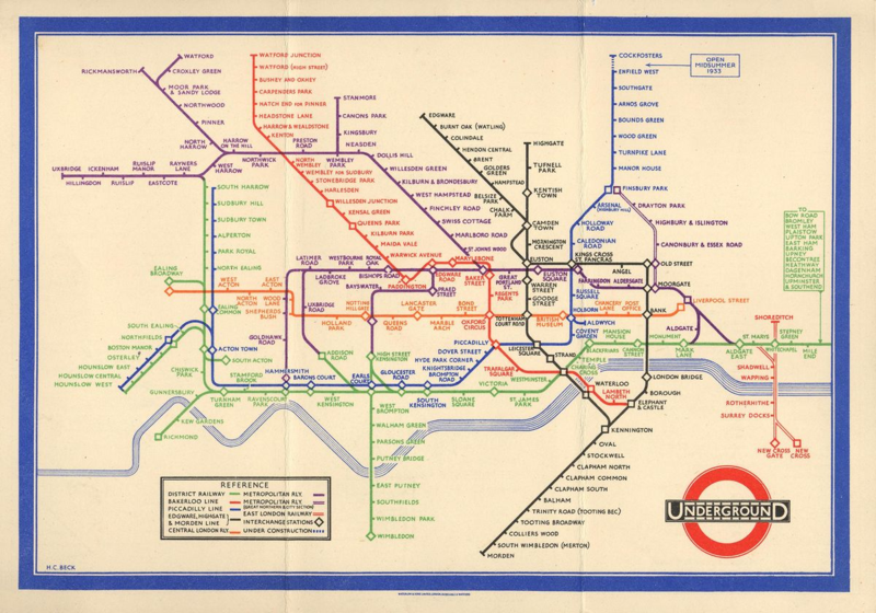 Harry Beck pocket-underground-map-1933
