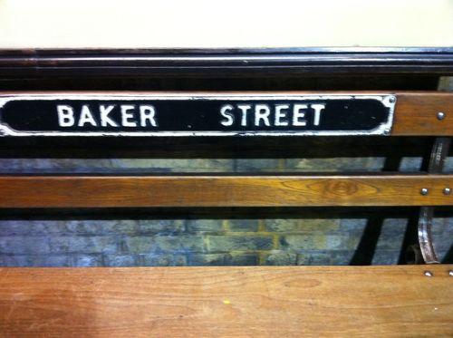 Baker st nameplate