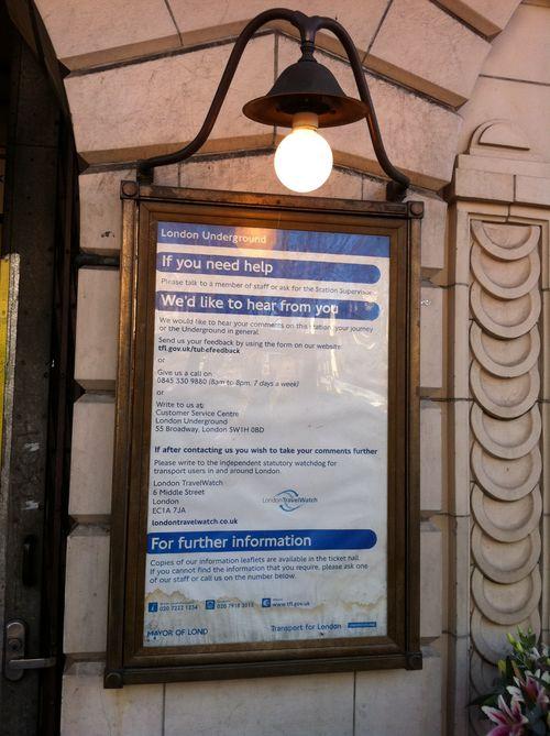 Notice board Gt Portland St